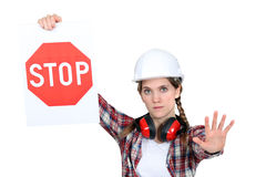 A road worker Royalty Free Stock Photography
