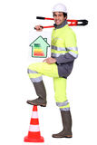 A road worker Stock Photos