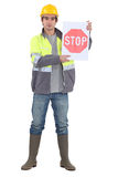 A road worker Stock Images