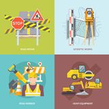 Road Worker Flat Royalty Free Stock Photos