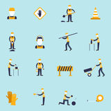 Road worker flat icon Stock Photos