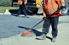 Road workers Stock Images