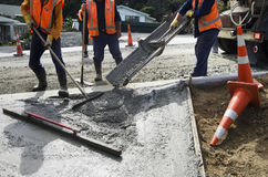 Road Working - Concrete Royalty Free Stock Image