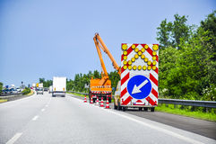 Road works. An image of road works royalty free stock photo