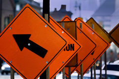 Road works royalty free stock photos