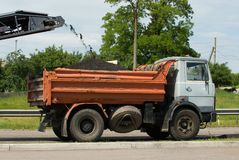 Road works. Road renewal and asphalt replacement in Ukraine stock photos