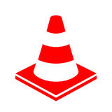 Road works cone vector icon Royalty Free Stock Photography