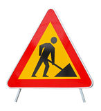 Road works. Isolated included clipping path Stock Photos
