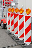 Road Works Lights Royalty Free Stock Photography