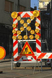 Road Works Lights Royalty Free Stock Photo