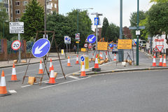 Road works Stock Images