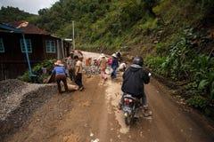 Road Works in Myanmar Royalty Free Stock Image