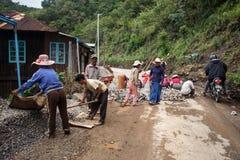 Road Works in Myanmar Stock Photo