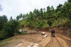 Road Works in Myanmar Stock Images