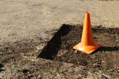Road works repair stock photos