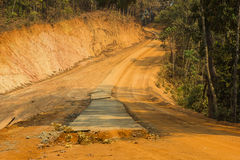 Road works. In rural northern of Thailand Stock Photos