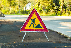 Free Road Works Sign Stock Photo - 77482320