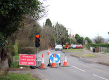 Road works sign Royalty Free Stock Image
