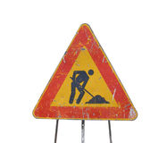 Road works sign Royalty Free Stock Photo