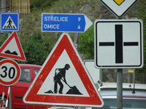 Road works sign Stock Photography