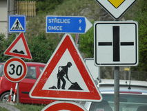 Road works sign Royalty Free Stock Images