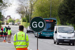 Road Works Stop Go Sign Royalty Free Stock Image