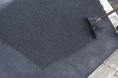Road works tarmac asphalt Royalty Free Stock Photos