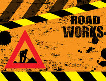 Road works under construction Stock Images