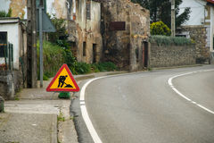 Road works. Urban roads under construction. signaling Royalty Free Stock Photography