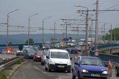 Road works on Varna bridge Bulgaria Royalty Free Stock Photos