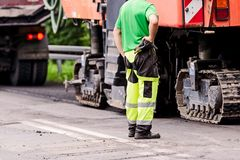 Road works. Royalty Free Stock Photography