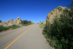 Road in Writing-On-Stone Stock Photography