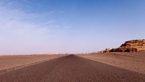 Road of Yadan landform Royalty Free Stock Image