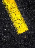 Road with Yellow Line Royalty Free Stock Photo