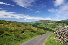 A road in the Yorkshire Dales. A photo of a  road in the Yorkshire Dales Royalty Free Stock Photos