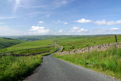 A road in the Yorkshire Dales. A photo of A road in the Yorkshire Dales Stock Images