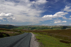 Road in Yorkshire. England. Royalty Free Stock Images