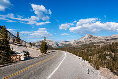 The road in Yosemite Park Stock Photos