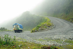 Road in Yungas, Bolivia Stock Photo