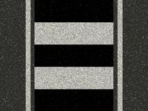 Road with zebra crossing Stock Images