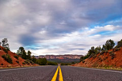 Road in Zion canyon Stock Photography