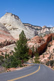Road into Zion Canyon Royalty Free Stock Photography