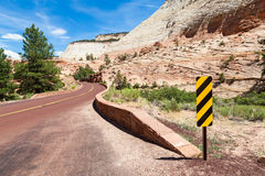 Road in Zion Stock Photography