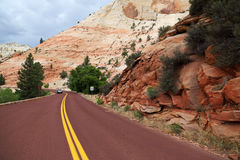 Road through Zion National Park Royalty Free Stock Photography