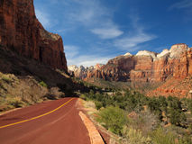 Road through Zion. National Park, Utah Royalty Free Stock Photos
