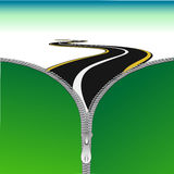 Road with zip. Illustration of road with zip Royalty Free Stock Photography