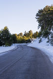 Road at Ziria mountain on a winter day, South Peloponnese, Greece Royalty Free Stock Image
