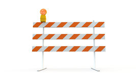 Roadblock. Isolated on white background Stock Photos