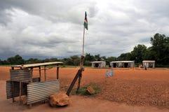 Roadblock in Africa Royalty Free Stock Photos