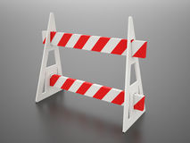 Roadblock barier Royalty Free Stock Photo
